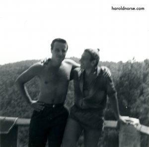 Thomas Livingston and Harold Norse in Vence, 1963