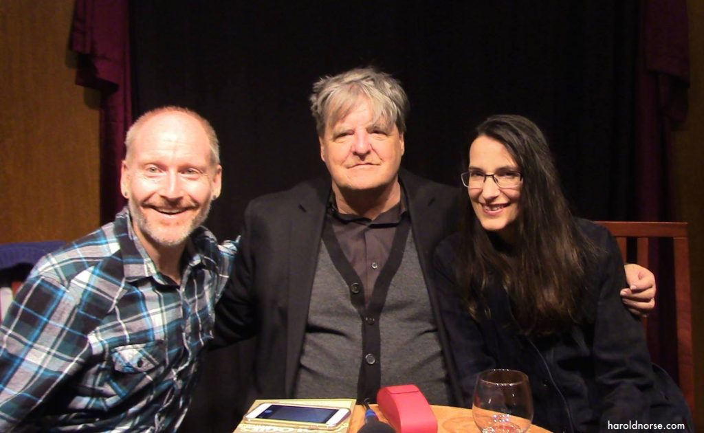 Authors Todd Swindell, Kevin Killian and Regina Marler celebrate Harold Norse's 100th birthday at the Mechanics' Institute, July 6, 2016